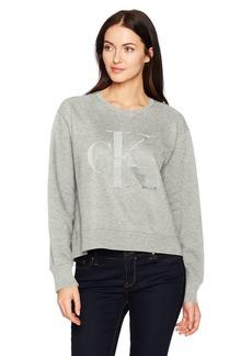 Calvin Klein Jeans Women's Long Sleeve Gel Monogram Logo Sweatshirt  M