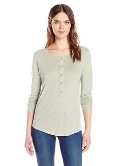 Calvin Klein Jeans Women's Long Sleeve Henley Shirt SAGE
