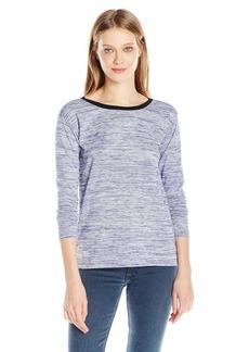 Calvin Klein Jeans Women's Long Sleeve Marled V-Back T-Shirt