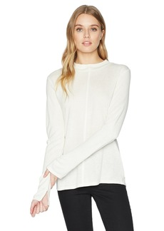 Calvin Klein Jeans Women's Long Sleeve Mock Neck Shirt