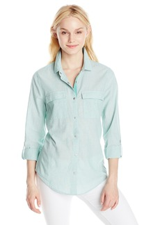 Calvin Klein Jeans Women's Long Sleeve Modern Utility Shirt