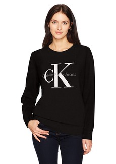 Calvin Klein Jeans Women's Long Sleeve Monogram Logo Sweatshirt  S