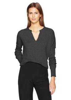Calvin Klein Jeans Women's Long Sleeve Split Neck Henley Shirt