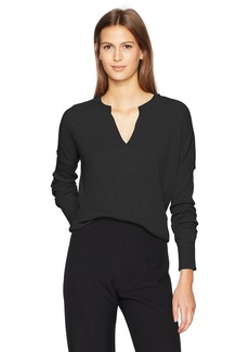 Calvin Klein Jeans Women's Women's Long Sleeve Split Neck Henley Shirt