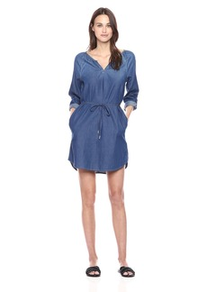 Calvin Klein Jeans Women's Modern Boho Denim Dress Wash  LARGE