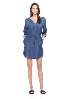 Calvin Klein Jeans Women's Modern Boho Denim Dress Wash  MEDIUM