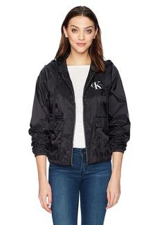 Calvin Klein Jeans Women's Monogram Logo Wind Breaker  XS