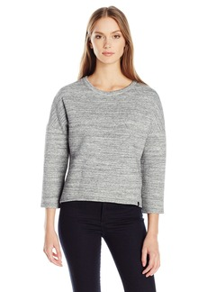 Calvin Klein Jeans Women's Neoprene 3/4 Sleeve Sweatshirt  MEDIUM