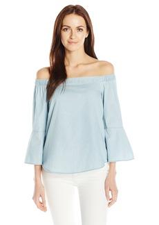 Calvin Klein Jeans Women's Off the Shoulder Denim Top  SMALL