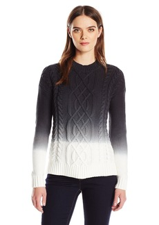 Calvin Klein Jeans Women's Ombre Cable Knit Sweater  LARGE