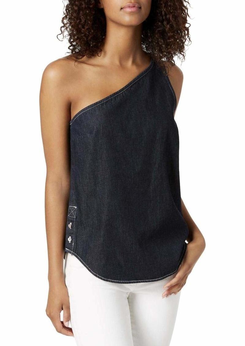 Calvin Klein Jeans Women's ONE Shoulder Blouse Alexa Rinse wash XL