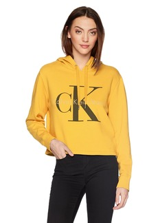 Calvin Klein Jeans Women's Pop Color Hoodie With Monogram Logo  M
