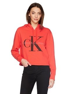 Calvin Klein Jeans Women's Pop Color Hoodie with Monogram Logo  XL