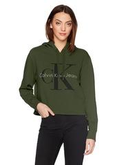 Calvin Klein Jeans Women's Monogram Logo Hoodie Sweatshirt  XL