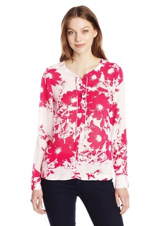 Calvin Klein Jeans Women's Printed Lace up Popover Blouse