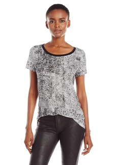 Calvin Klein Jeans Women's Printed Mixed Media Slub T-Shirt