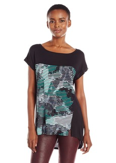 Calvin Klein Jeans Women's Printed Mixed Media T-Shirt