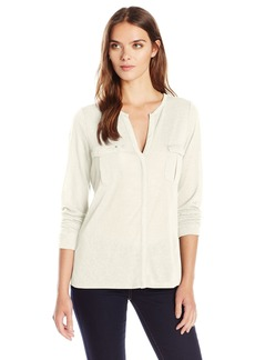 Calvin Klein Jeans Women's Roll Tab Shirt With Chest Cargo Pockets