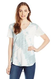 Calvin Klein Jeans Women's Scoop Neck Print Blocked Tee