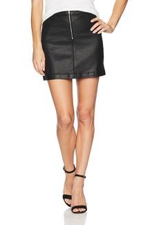 Calvin Klein Jeans Women's Seduction Moto Zipped Mini Skirt