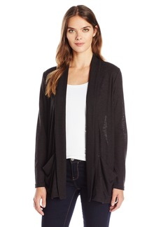 Calvin Klein Jeans Women's Shawl Collar Rib Cardigan Sweater
