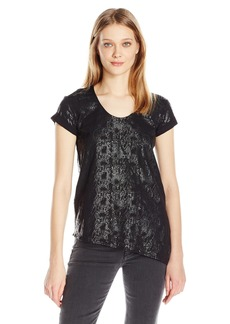 Calvin Klein Jeans Women's Short Sleeve Animal Stud Calvin Logo Crew Neck T-Shirt