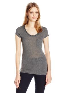 Calvin Klein Jeans Women's Short Sleeve Chain Neck Detail T-Shirt