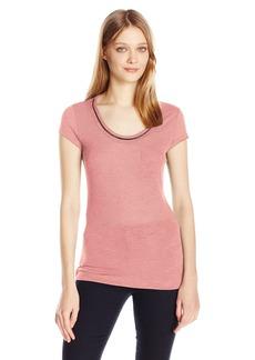 Calvin Klein Jeans Women's Short Sleeve Chain Neck Detail T-Shirt