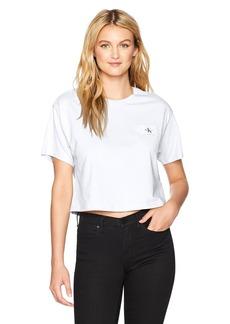 Calvin Klein Jeans Women's Short Sleeve Ck Logo Pocket T-Shirt