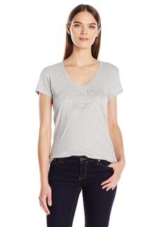 Calvin Klein Jeans Women's Short Sleeve CKJ Caviar Logo T-Shirt