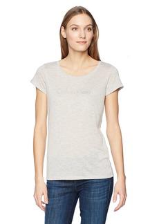 Calvin Klein Jeans Women's Short Sleeve Color Block Melange T-Shirt