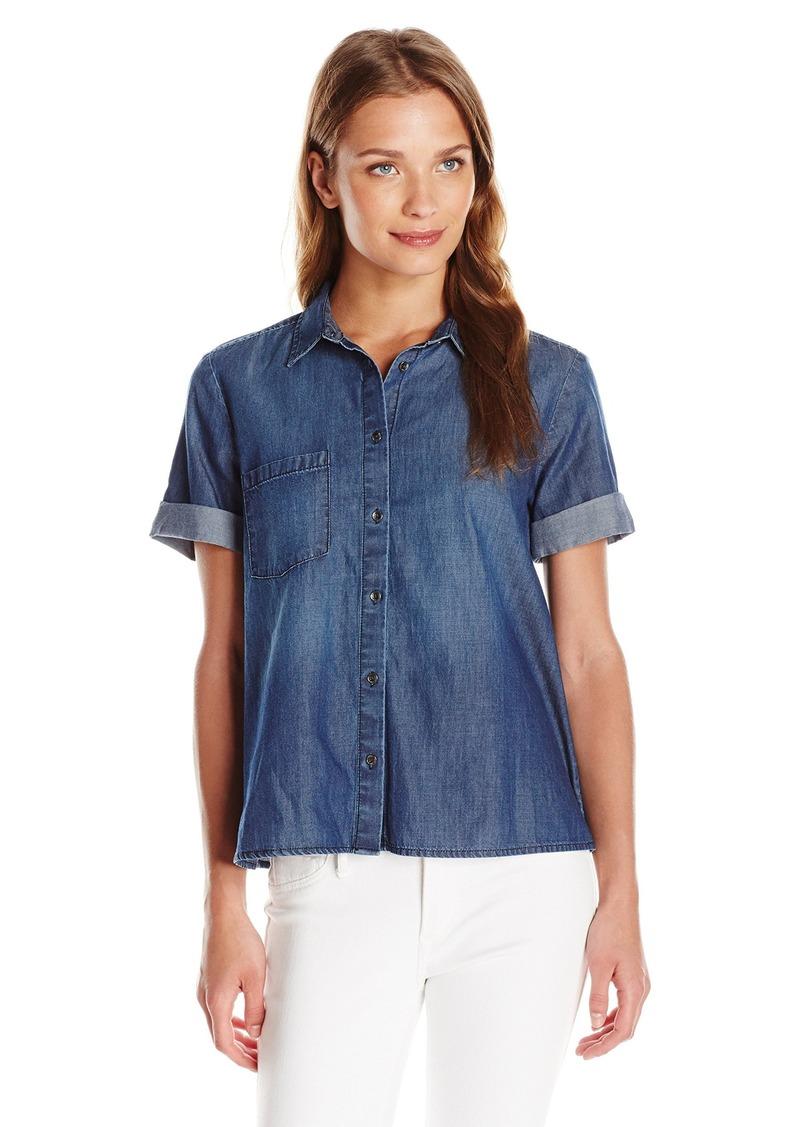 Calvin Klein Jeans Women's Short Sleeve Denim Top