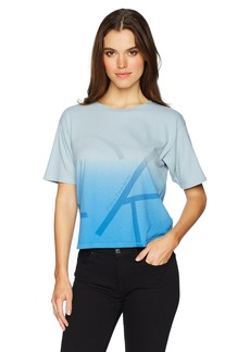 Calvin Klein Jeans Women's Short Sleeve Dipdye Oversized Fit Cropped T-Shirt