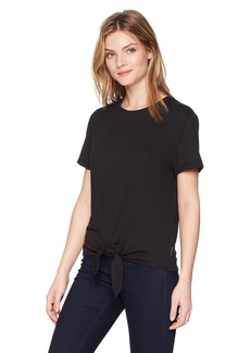 Calvin Klein Jeans Women's Short Sleeve Jersey T-Shirt with TIE Front  XL
