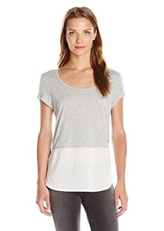 Calvin Klein Jeans Women's Short Sleeve Mixed Media Tee