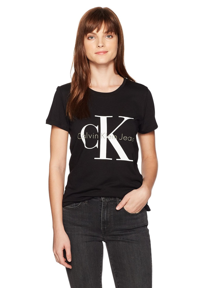 e90f5ecc2 Jeans Women's Short Sleeve Monogram Logo T-Shirt