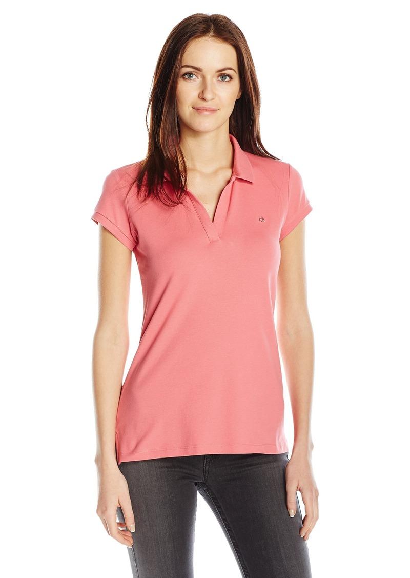 aac546ee87863e Calvin Klein Calvin Klein Jeans Women s Short Sleeve Pique Polo ...