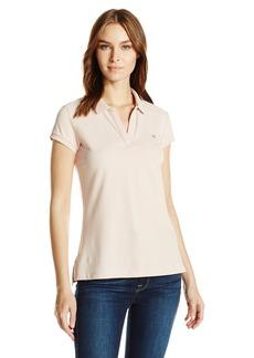 Calvin Klein Jeans Women's Short Sleeve Pique Polo Shirt  X-LARGE
