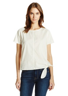Calvin Klein Jeans Women's Women's Short Sleeve Side Tie Blouse
