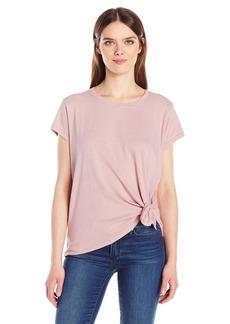 Calvin Klein Jeans Women's Short Sleeve Shimmer Tie Knot T-Shirt  MEDIUM