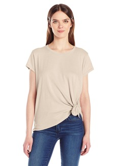 Calvin Klein Jeans Women's Short Sleeve Shimmer Tie Knot T-Shirt  MEDIUM
