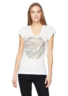 Calvin Klein Jeans Women's Short Sleeve Snake Print Calvin Logo T-Shirt