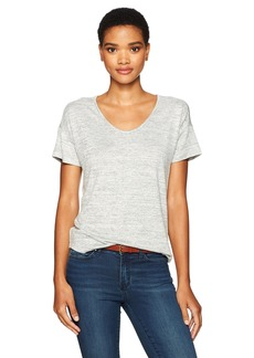 Calvin Klein Jeans Women's Short Sleeve Soft V-Neck T-Shirt