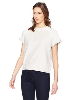 Calvin Klein Jeans Women's Short Sleeve Sweatshirt Two Tone Embroidered  M