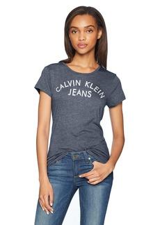 Calvin Klein Jeans Women's Short Sleeve T-Shirt Iconic Logo  L