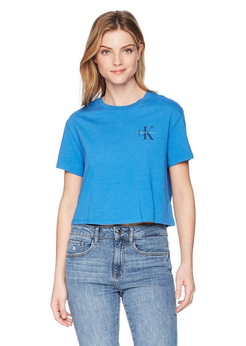 Calvin Klein Jeans Women's Short Sleeve T-Shirt Monogram Logo