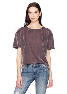 Calvin Klein Jeans Women's Short Sleeve Velvet Crew Neck T-Shirt