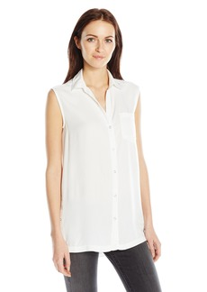 Calvin Klein Jeans Women's Sleeveless Button Down Top