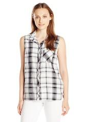 Calvin Klein Jeans Women's Sleeveless Button Down Shirt