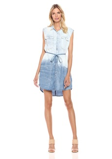 Calvin Klein Jeans Women's Sleeveless Denim Dress Jackson Mid was was